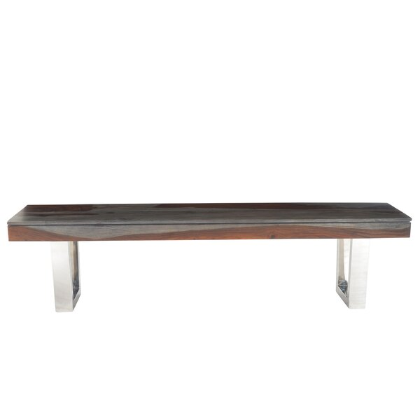 Napoli Wood Bench by Brayden Studio