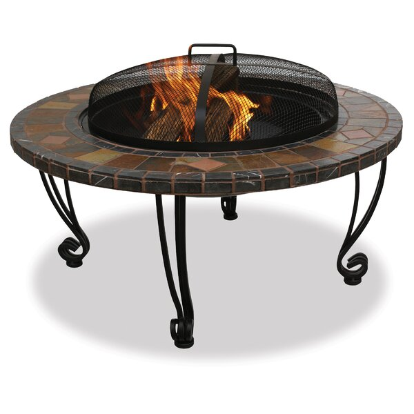 Uniflame Wrought iron Wood Burning Fire Pit Table by Blue Rhino