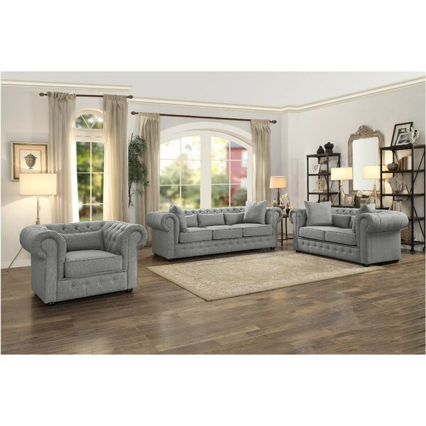 Cordova Button Tufted Upholstered Configurable Living Room Set by Rosdorf Park