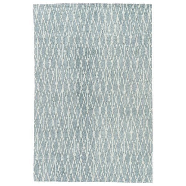 Shanice Hand-Tufted Blue/White Area Rug by Ebern Designs