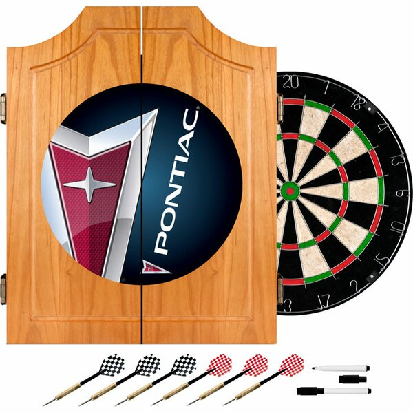 Pontiac Wood Dart Cabinet Set by Trademark Global