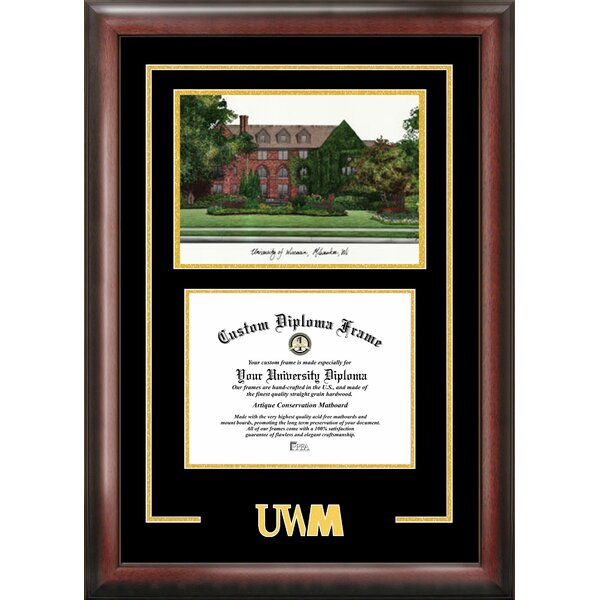 NCAA Wisconsin University, Milwaukee Spirit Graduate Diploma Picture Frame by Campus Images