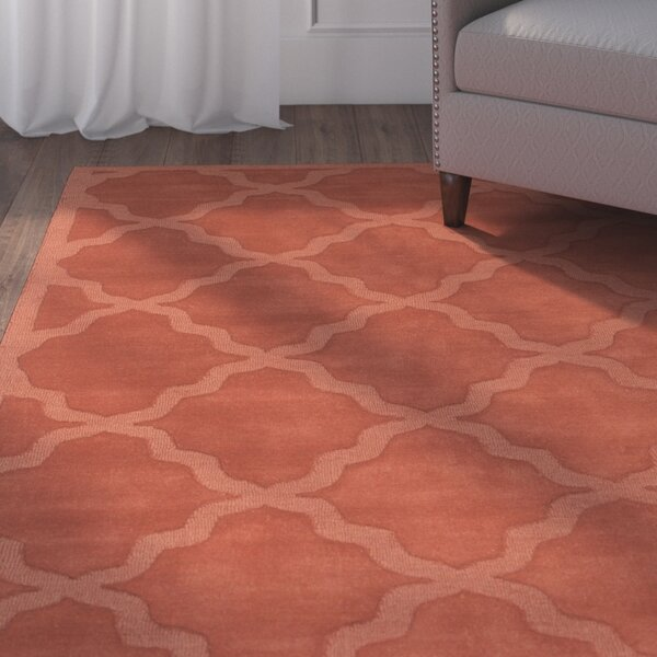 Blankenship Red Geometric Abbey Area Rug by Charlton Home