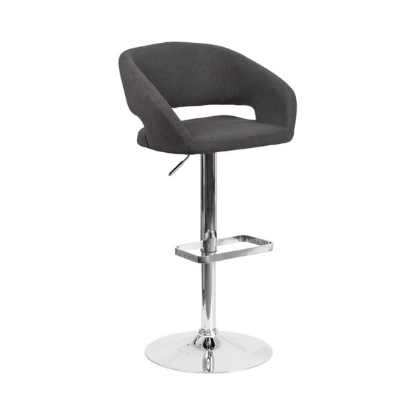 Spade Adjustable Height Swivel Bar Stool by Orren Ellis