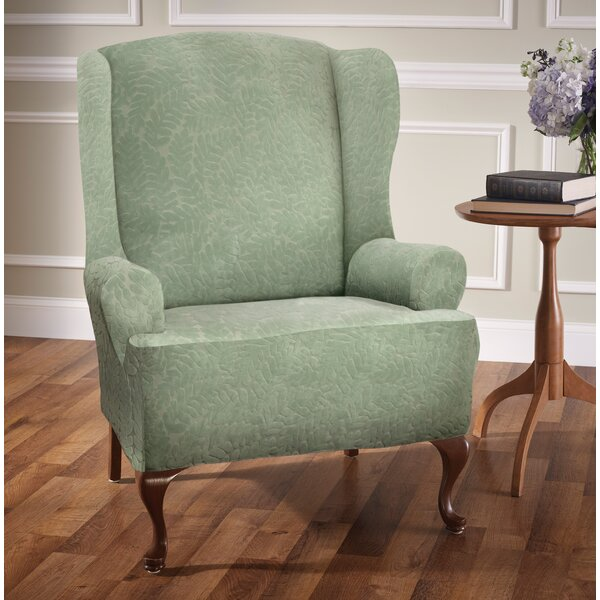 Check Price Stretch T-Cushion Wingback Slipcover