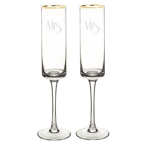 Gatsby 8 oz. Champagne Flute (Set of 2) by Cathys Concepts