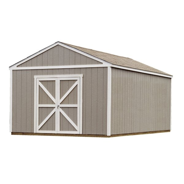 Premier Series 12 ft. 6 in. W x 16 ft. 2 in. D Wooden Storage Shed by Handy Home
