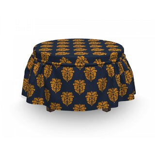 Antique Floral Ottoman Slipcover (Set of 2) by East Urban Home SKU:DA627986 Reviews