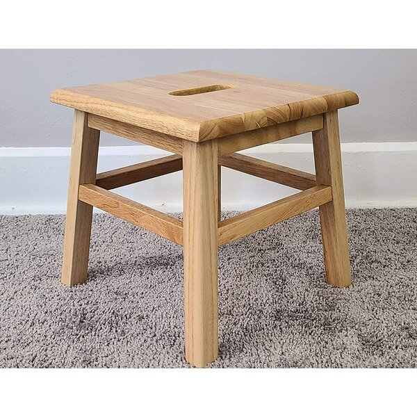 Blount Hardwood Accent Stool By Millwood Pines