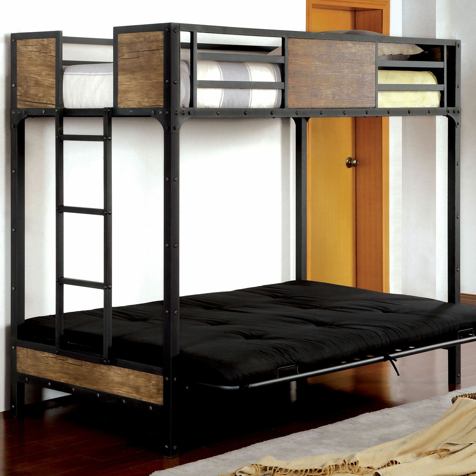 Espanola Twin Futon Bunk Bed