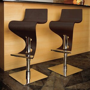 The Adjustable Height Swivel Bar Stool by Wade Logan Compare Price