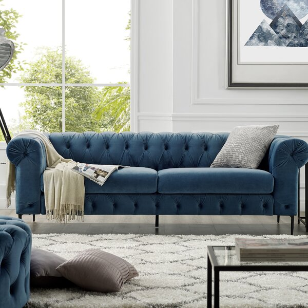 Stay On Trend This Kohlmeier Chesterfield Sofa by House of Hampton by House of Hampton