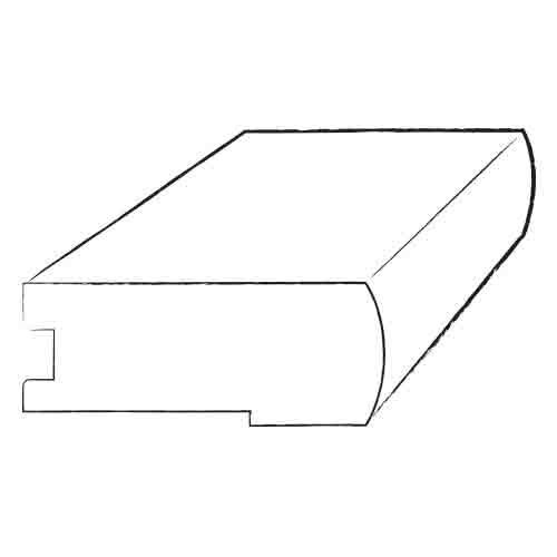 0.81 x 4.2 x 78 Red Oak Stair Nose by Moldings Online