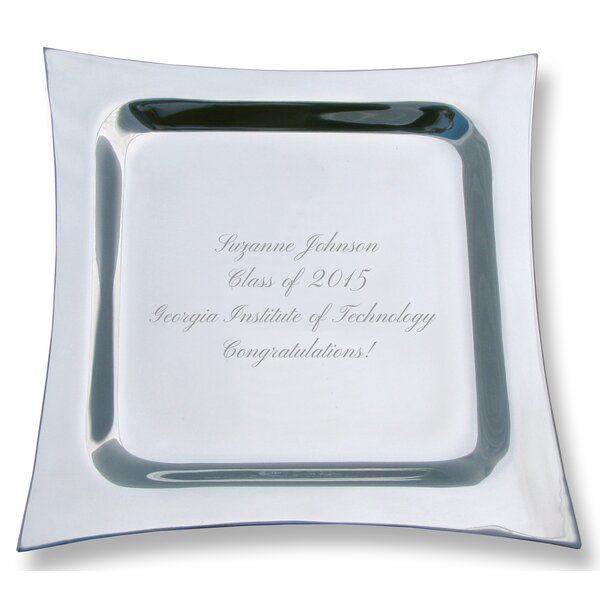 Personalized Engraved Pewter Contemporary Platter by Signature Keepsakes