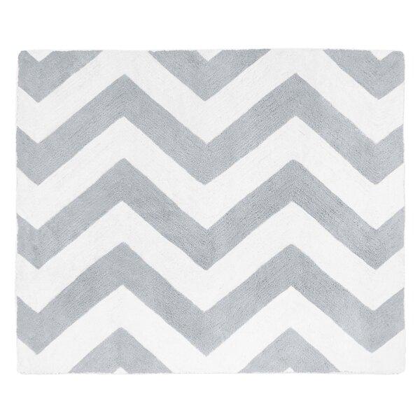 Chevron Gray & White Area Rug by Sweet Jojo Designs