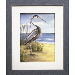 Shore Bird I by Ethan Harper Framed Painting Print by Star Creations