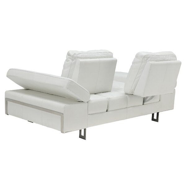 Gia Leather Sofa by At Home USA
