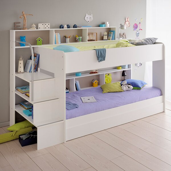 Lacluta 2 Twin over Twin Bunk Bed with Trundle by Isabelle & Max