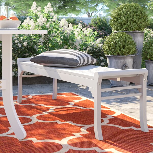 Andromeda Wooden Picnic Bench by Beachcrest Home