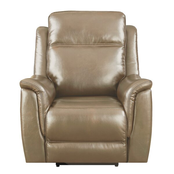 Kavanagh Leather Power Recliner [Red Barrel Studio]