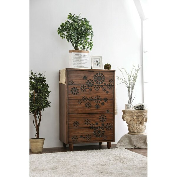 Alsacia Transitional Solid Wood 5 Drawer Chest by Bungalow Rose