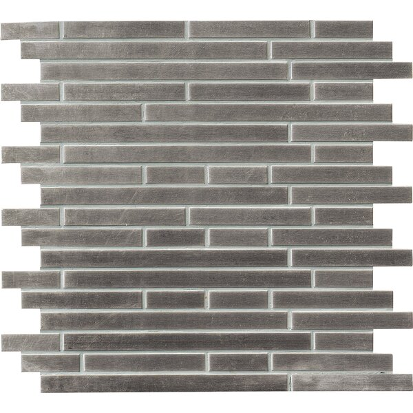Interlocking Pattern Random Sized Metal Mosaic Tile in Gray by MSI