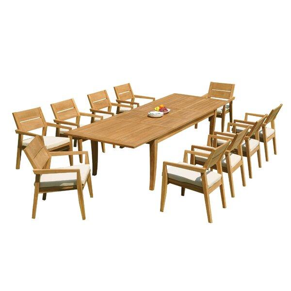 Atnas 11 Piece Teak Dining Set by Teak Smith