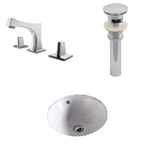 Great choice Ceramic Circular Undermount Bathroom Sink with Faucet and Overflow ByAmerican Imaginations