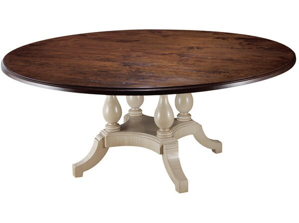 Four Pedestal Dining Table by MacKenzie-Dow