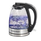 1 Qt Compact Stainless Steel/Glass Electric Tea Kettle by Hamilton Beach