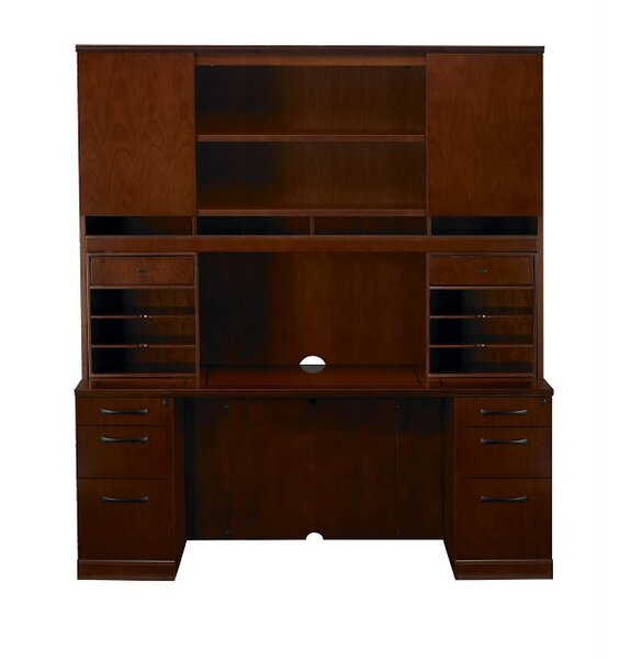 Sorrento Executive Desk with Hutch by Mayline Group