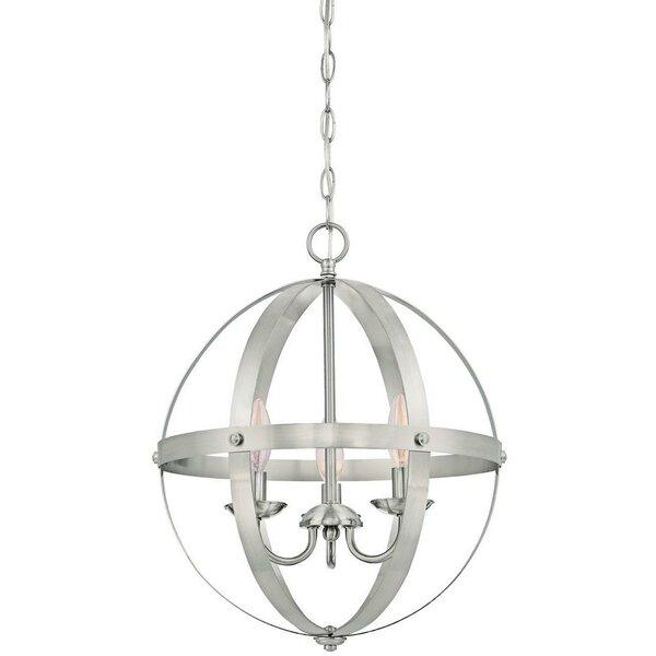 La Barge 3-Light Globe Chandelier by Laurel Foundry Modern Farmhouse