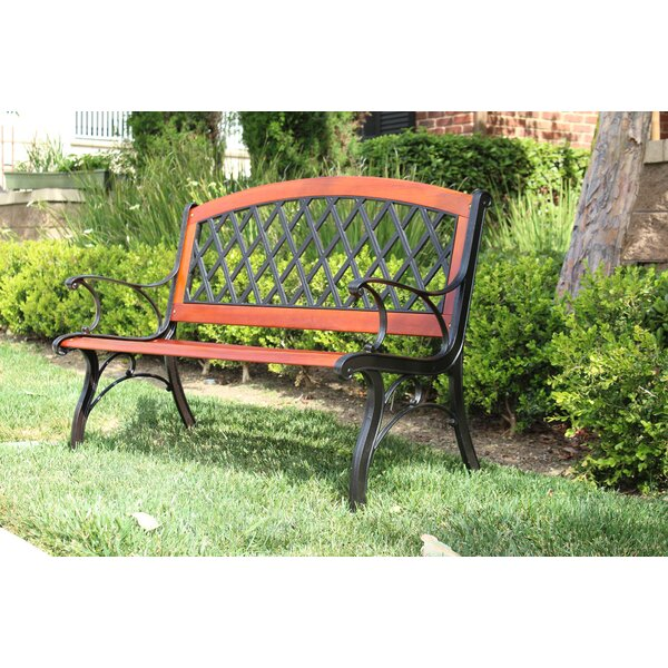 Karr Arch Lattice Wooden Park Bench by August Grove