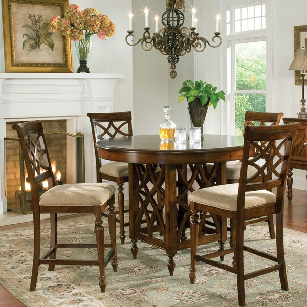 Blue Hills 5 Piece Dining Set by Three Posts