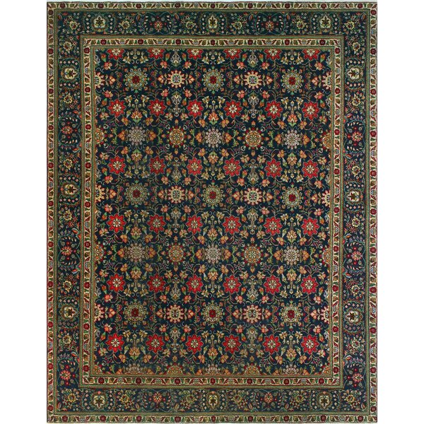 One-of-a-Kind Millikan Distressed Maisie Hand-Knotted Wool Blue Area Rug by Bloomsbury Market
