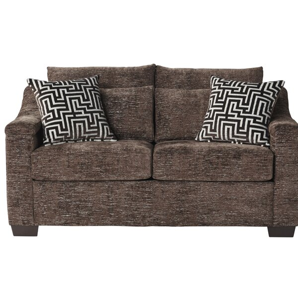 Modern Collection Pershing Loveseat by Ebern Designs by Ebern Designs