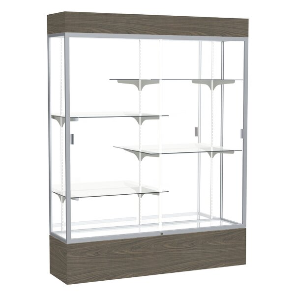 Reliant Series Vinyl Lighted Floor Display Case by