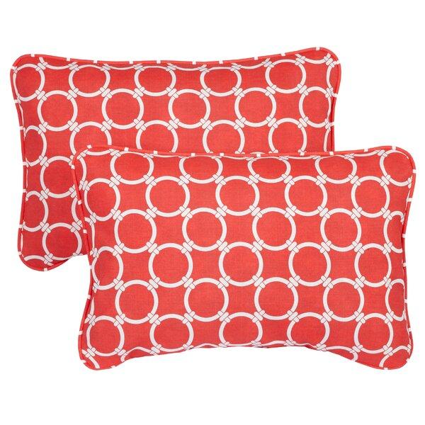Haigh Corded Indoor/Outdoor Lumbar Pillow (Set of 2) by Brayden Studio