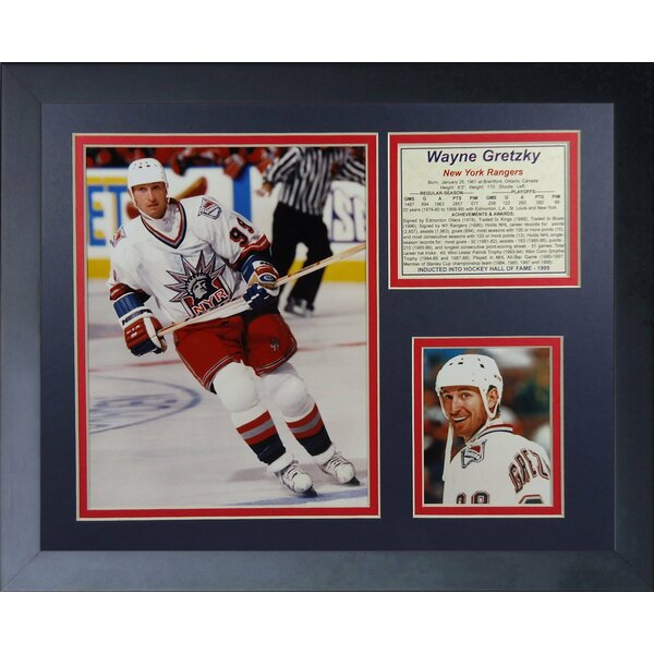 Wayne Gretzky New York Rangers Framed Memorabilia by Legends Never Die