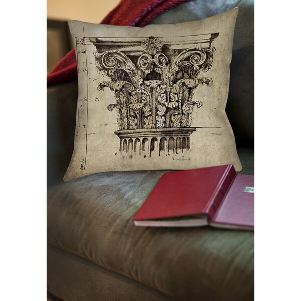 Column II Printed Throw Pillow by Manual Woodworkers & Weavers