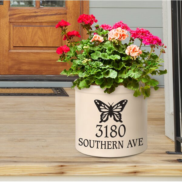Woolbright Personalized Butterfly Ceramic Pot Planter by August Grove