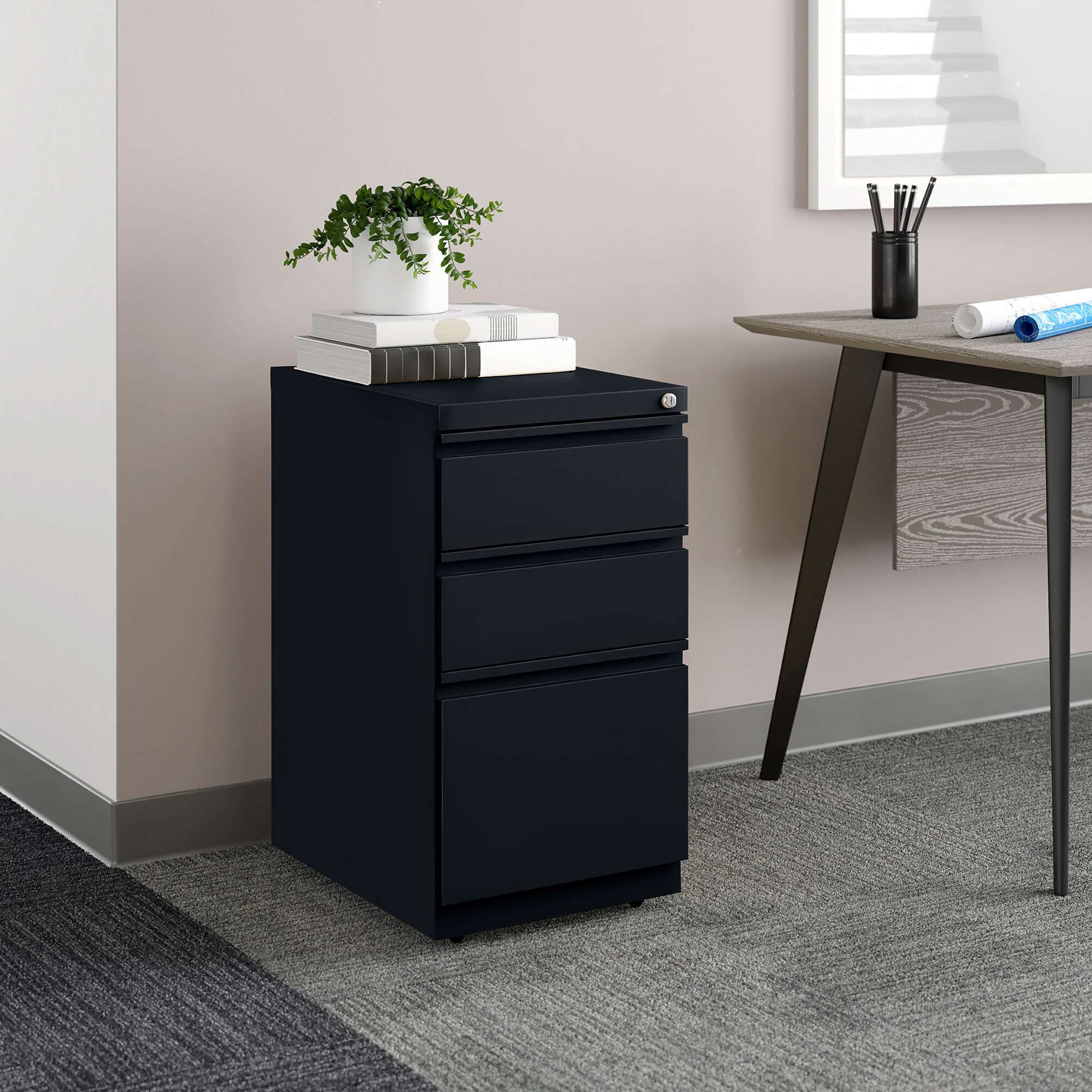 Upper Square Premo 3 Drawer Mobile Vertical Filing Cabinet Reviews Wayfair