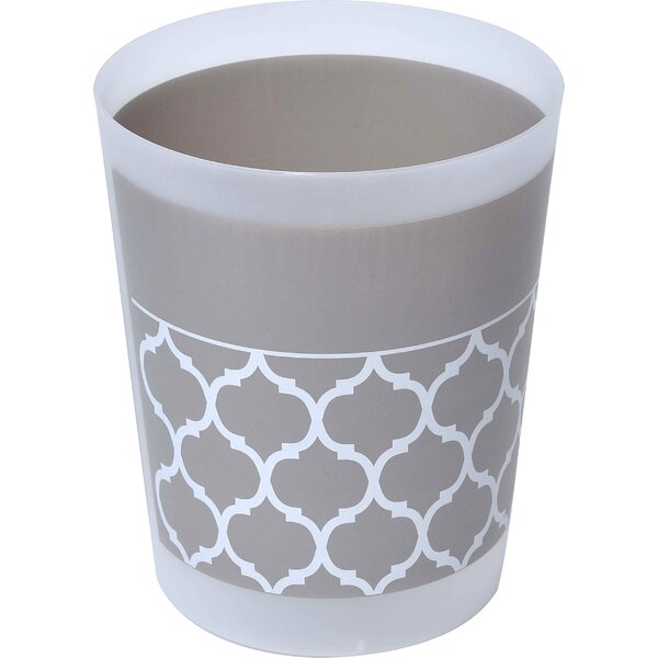 Escal Printed Plastic 1.2 Gallon Waste Basket by Evideco