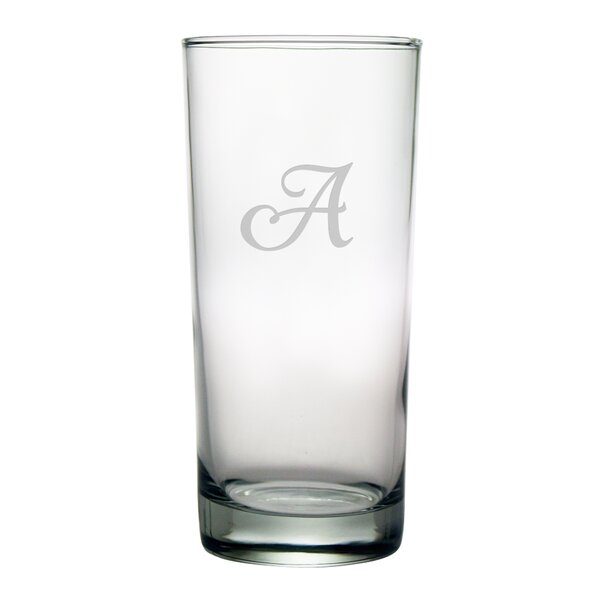 Script Monogrammed Hiball Glass (Set of 4) by Susquehanna Glass