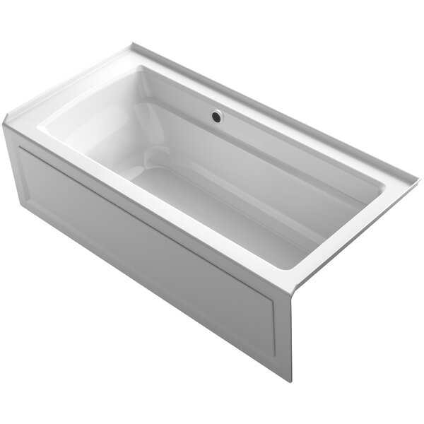 Archer Alcove Bath with Bask™ Heated Surface, Integral Apron, Tile Flange and Right-Hand Drain by Kohler