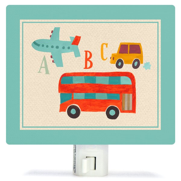 Transportation a to Z by Canvas Night Light by Oopsy Daisy