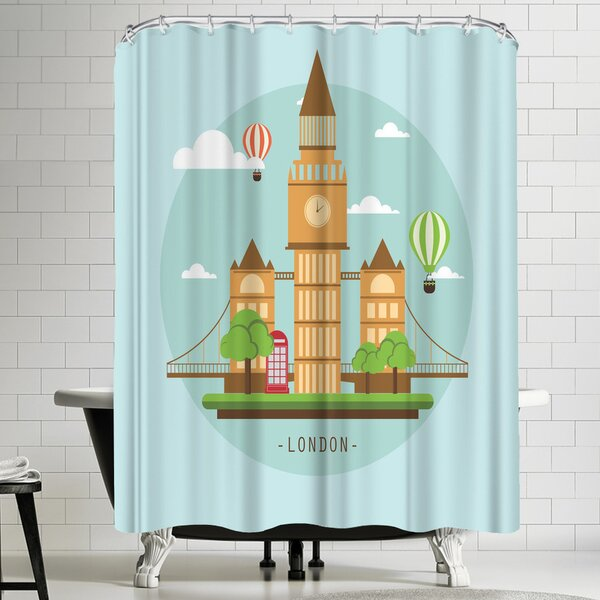 Wonderful Dream London Shower Curtain by East Urban Home