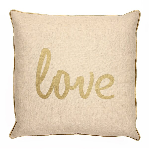 Elliott Love Square Throw Pillow by Ivy Bronx
