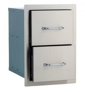 Stainless Steel Double Drawer by Bull Outdoor Products