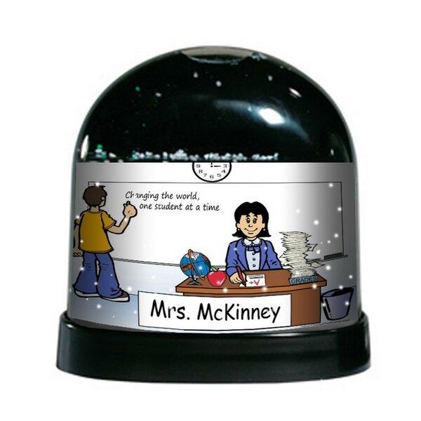 The Holiday Aisle Ntt Cartoon Caricature Female School Teacher Snow Globe Wayfair